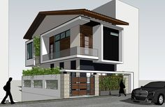 House Balcony Design, 3 Storey House Design, House Front Design, Modern Small House Design, Modern Tropical House, Dream Home Design, Villa Design, Facade Design, Residential Architecture