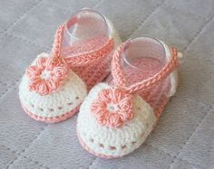 Baby Girl Shoes BabyGirl Spring Shoes Girl by DaisyNeedleWorks