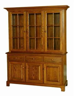 Amish Shaker China Hutch