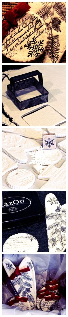 Salt Dough Ornament Tutorial (or tags for the birthday calendar I want to make!)