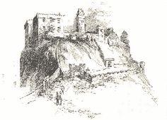 Old engraving of Edinburgh Castle