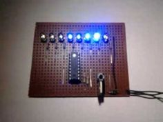 PIC16F628A LED Chaser. Microcontroller LED Chaser. LED Knight Rider Design Pic Microcontroller, Knight, Led, Projects, Design, Circuits, Log Projects, Blue Prints
