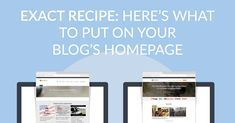 Your blog's homepage is one of the best places to segment your audience, get email address and build trust. You just need this simple recipe... Get Email, Email Address, The Good Place, Trust, Blog, Recipe, Simple, Places, Tools