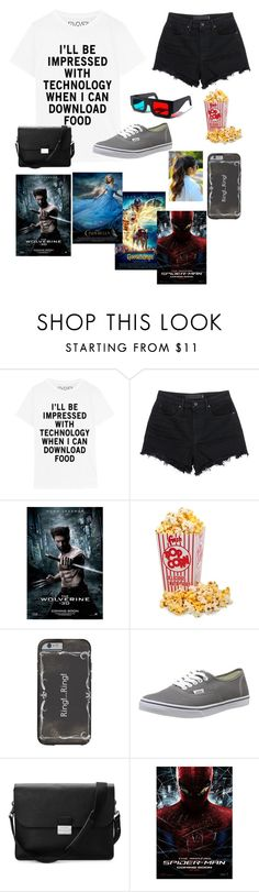 """""""going to the movies with a friend part 1"""" by winternightfrostbite ❤ liked on Polyvore featuring T By Alexander Wang, Wolverine, Vans, Aspinal of London, women's clothing, women, female, woman, misses and juniors"""