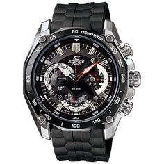 Casio Men's EF550-1AV Black Resin Quartz Watch with Black Dial Casio. $124.95. Stainless Steel Case with Black Resin Strap. Mineral Crystal, Date Display, Luminous Hands and Markers, Chronograph Function. Case Size:  47mm Diameter, 12mm Thcikness. Water Resistant - 100M, Screw Down Caseback. Precise Japan Quartz Movement