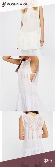 Free People nwt imaginary friend tunic Delicate crochet design and sheer fabric Free People Tops Tunics