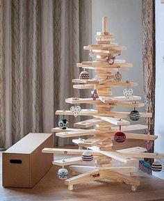 Ideas DIY, Arboles de Navidad en madera | Decorar tu casa es facilisimo.com