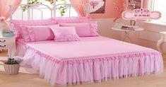 Wedding Bedding Set Japan - Recherche Go - maallure Pink Bedding, Bedding Sets, Pink Bedroom Accessories, Draps Design, Bed Cover Design, Designer Bed Sheets, Rideaux Design, Wedding Bed, Daybed Sets