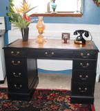 Leather top desk....