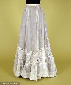 White Cotton & Lace Petticoat, C. 1900, Augusta Auctions, November, 2007 -Tasha Tudor Historic Costume Collection, Lot 373