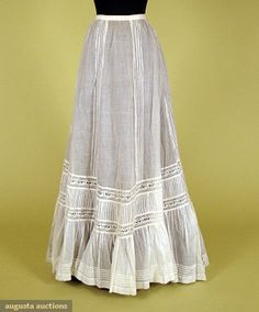 White Cotton & Lace Petticoat, C. 1900, Augusta Auctions, November, 2007 -Tasha Tudor Historic Costume Collection, Lot 373