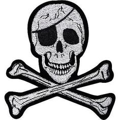 Embroidery Applique Patch Sew Iron Badge Skull Magician No 13 Hat XL Iron On