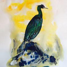 Palagic Cormorant by RobertsOriginalArt on Etsy Wedding In The Woods, People Of The World, Sentimental Gifts, Bird Art, Wood Wall Art, Wedding Gifts, Original Art, Birds, Prints
