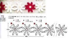 Crochet flower edge chart