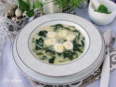 Ala piecze i gotuje: Zupa szpinakowa z przepiórczymi jajkami