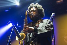 Kamasi Washington Presents Jazz-Rock Spectacle in New York.  The Los Angeles-based tenor saxophonist Kamasi Washington, arguably the hottest musician in jazz as measured by the current amount of buzz and critical acclaim, made a triumphant return to New York City on Feb. 24, playing to a sold-out crowd of 1,500 at Webster Hall.