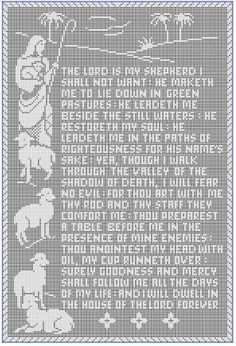 (4) Name: 'Crocheting : The 23rd Psalm Filet Crochet Pattern