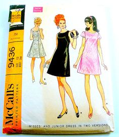 60s fashion. I had this pattern and a white dress made from it