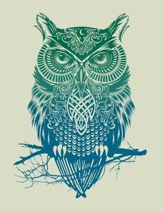 "Warrior Owl by Rachel Caldwell Art Print / MEDIUM (Gallery) (17"" x 21"") $35.00"