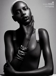 Ajak Deng by Danielle + Iango for V Magazine beautiful black models African American Models, African Models, African Beauty, African Fashion, African Style, Tribal Fashion, Fashion Art, My Black Is Beautiful, Beautiful Women