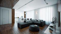 современный интерьер( гостиная-кухня) - Галерея 3ddd.ru