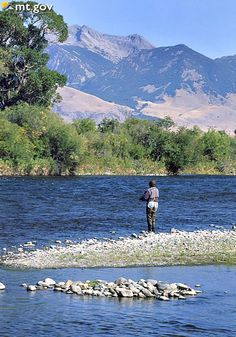Fly Fishing along the Madison River - Montana