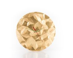Wall clock Different Facets gilding. by DesignAtelierArticle, $129.00