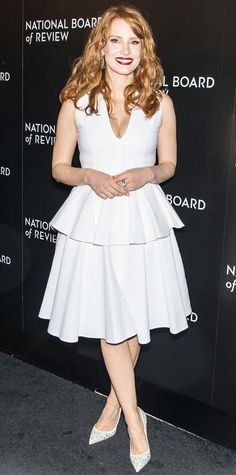 Look of the Day - January 07, 2015 - Jessica Chastain in Alexander McQueen from #InStyle