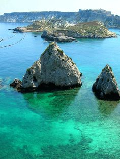 Puglia - Italy. The crystal clear waters off the coastline of Isole Tremiti