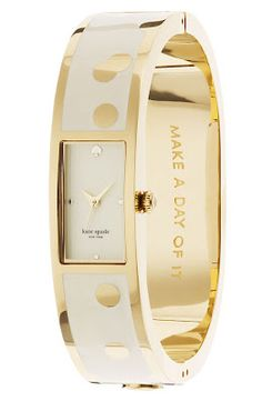 """Kate Spade watch especially love the quote inside """"Make a Day of it"""" #Want"""