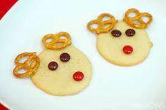 reindeer cookie with pretzels - Google Search