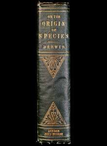 The title page of Darwin's 'On the Origin of Species By Means of Natural Selecition', first published in 1859
