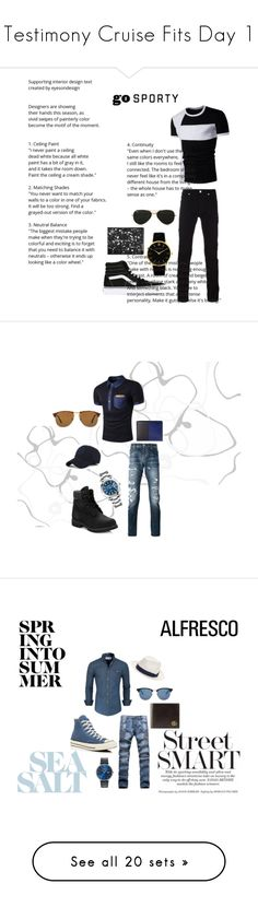 """Testimony Cruise Fits Day 1"" by tiannahardy on Polyvore featuring Versace, Vans, Larsson & Jennings, Tumi, Topman, men's fashion, menswear, Philipp Plein, Timberland and Rolex"