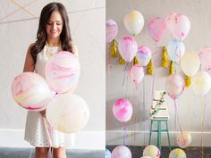 decorative balloon ideas that you can use for your geometric wedding
