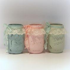 Shabby Mason Jars