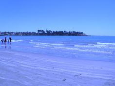 The beach.  (Pic in Timaru, New Zealand)