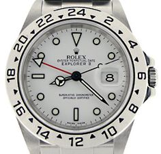 Rolex Explorer II 16570 40mm White Dial GMT [16570_Z] : KeepTheTime Watches, Authentic, Exotic, Luxury Wristwatches