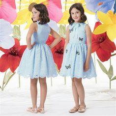 14.07$  Watch here - http://alipr8.shopchina.info/go.php?t=32784565042 - 2017 New Girls Sleevess Dress Girls Butterfly Embroidery Princess Dress Kids Costume Performance Infant Blue Elegant Clothes 14.07$ #magazine