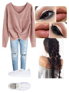 """""""simple but stylish"""" by giovannam-m ❤ liked on Polyvore featuring Puma"""