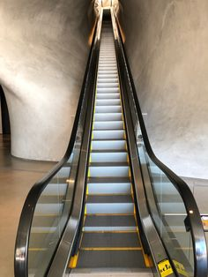 Escalator at the Broad Museum in Los Angeles