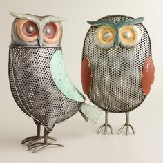 Metal Owl Decor at Cost Plus World Market >> #WorldMarket Owl