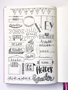 Super Cool Bullet Journal Header Ideas Like Pro - Seeing a simple bullet journal may seem boring. You can spice points up by making an extremely creative bullet journal through creative headers, doodles, graphics, infographics, tables, as well as a lot more. Produce your own bullet journal header ideas to look like a pro. The bullet journal will certainly be an exceptional life record of you to note some essential points to do daily, monthly, and also annual. #bulletjournal