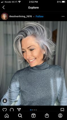 Short Hair Images, Short Hairstyles For Women, Grey Hair And Glasses, Silver Haired Beauties, Grey White Hair, Gray Hair Highlights, Gray Hair Growing Out, Short Hair With Layers, Great Hair