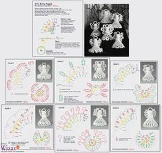 Alice's Enchanted World: Crochet ANGELS for Christmas tree Crochet Christmas Decorations, Crochet Ornaments, Christmas Crochet Patterns, Holiday Crochet, Crochet Snowflakes, Angel Ornaments, Christmas Crafts, Crochet Angel Pattern, Crochet Angels