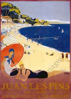 Roger Broders (1883-1953): Juan les Pins 1928