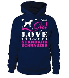 # This girl love her Standard Schnauzer .  This girl love herStandard Schnauzer