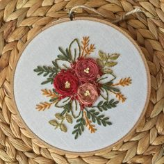 Items similar to Floral Bouquet Embroidery Hoop Art. on Etsy Floral Bouquet Embroidery Hoop Art. Floral Embroidery Patterns, Embroidery Hoop Art, Cross Stitch Embroidery, Embroidery Designs, Bordado Floral, Floral Wall, Art Floral, Floral Bouquets, Cross Stitching