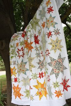 Oh My Stars - isn't this pretty???  The big-stitch is a wonderful touch!