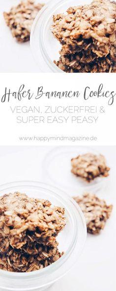 Recipe: Oat banana cookies - vegan, sugar free and super easy! Recipe: Oat banana cookies - vegan, sugar free and super easy! Oats Recipes, Vegan Recipes, Vegan Food, Kreative Snacks, Vegan Sugar, Chocolate Factory, Sugar Free, Clean Eating, Food And Drink