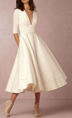simple elegant white dress